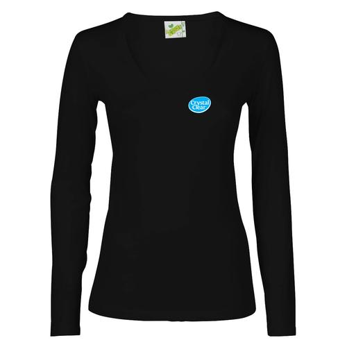 84ebf68d09f138 Dames T-shirt Lange mouw uit de quality collectie bedrukken ...